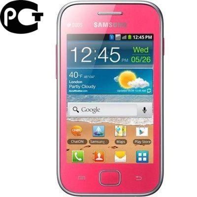 Смартфон, Samsung Galaxy Ace Duos GT-S6802 Pink