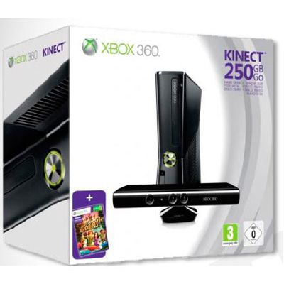 ������� ��������� Microsoft Xbox 360 250Gb kinect + ���� Kinect Adventures (S7G-00034)