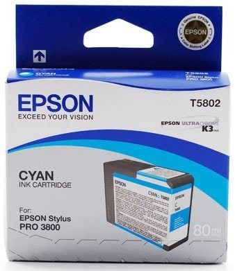 Картридж Epson Cyan/Голубой (C13T580200)