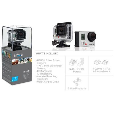 Экшн камера GoPro HD HERO3 Silver Edition CHDHN-301