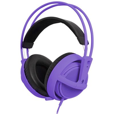 Наушники с микрофоном SteelSeries Siberia v2 full-size headset Purple (51124)